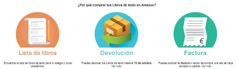 Libros de texto Amazon 2017