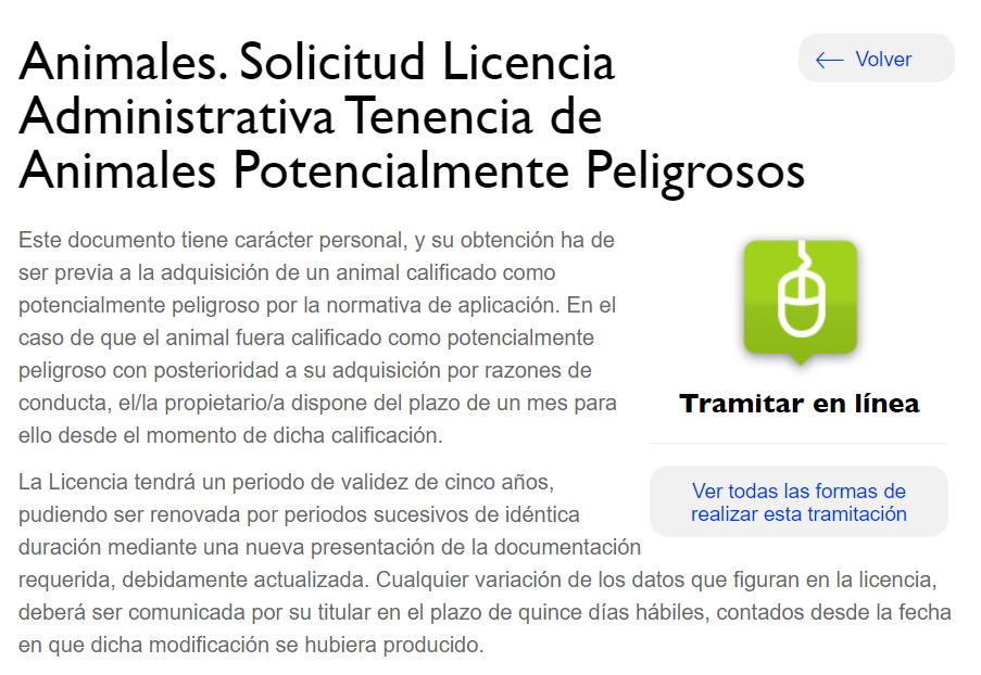 Licencia PPP ayuntamiento de Madrid web