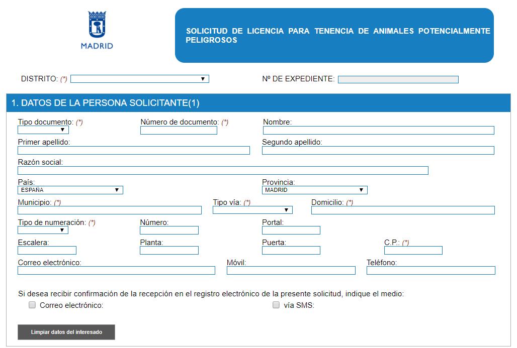Licencia PPP ayuntamiento de Madrid
