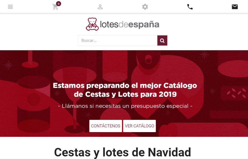 Lotes de España página web julio 2019
