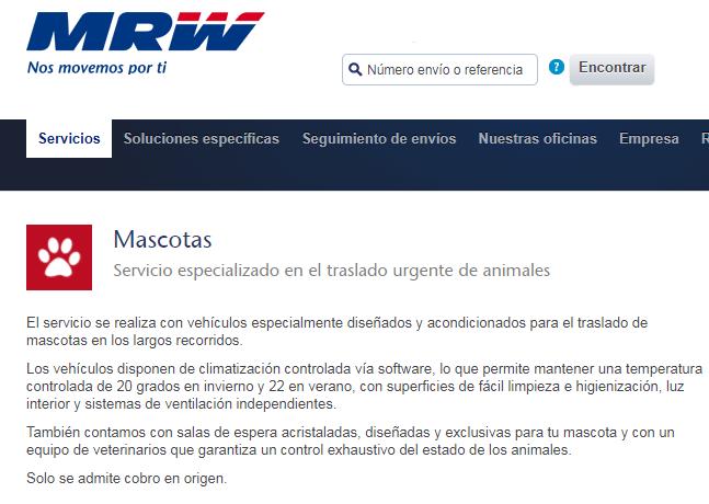MRW Mascotas