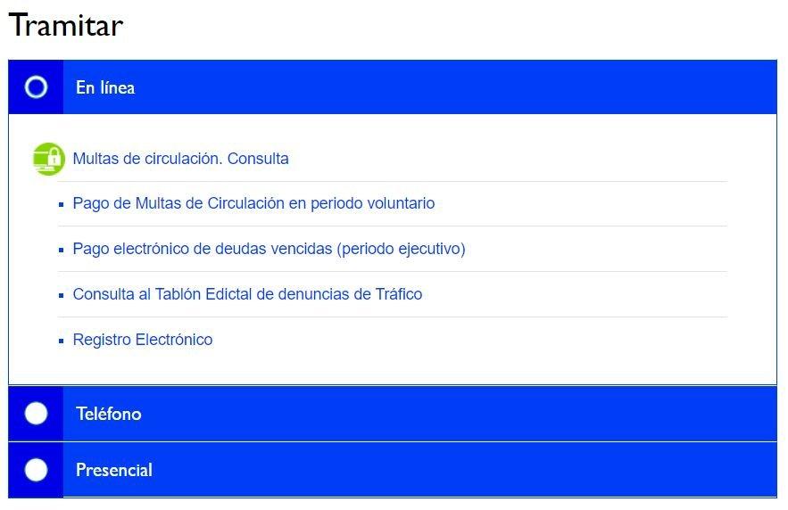Madrid Multas pago online