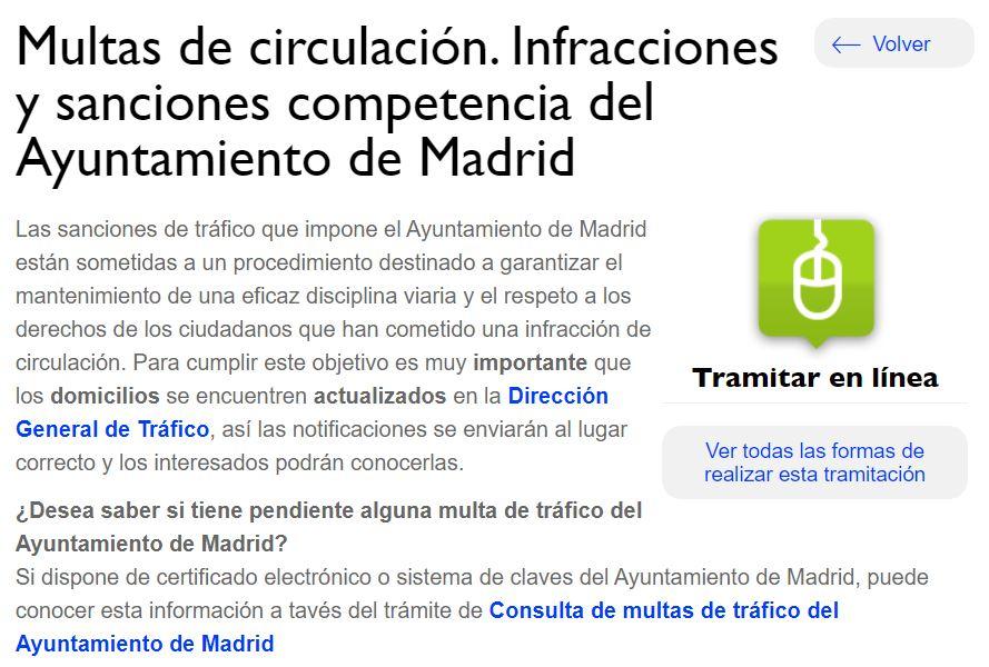 Madrid Multas