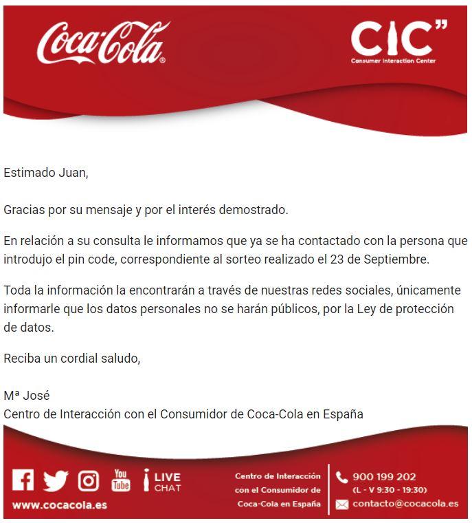 Mail de Coca-Cola 1