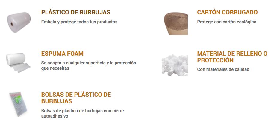 Material de relleno y protección