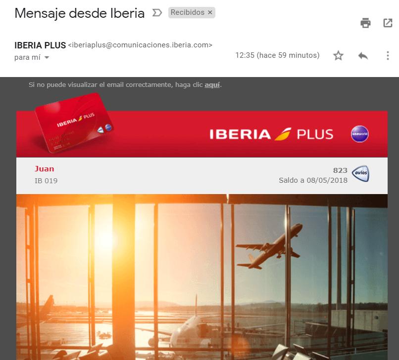 Mensaje desde Iberia