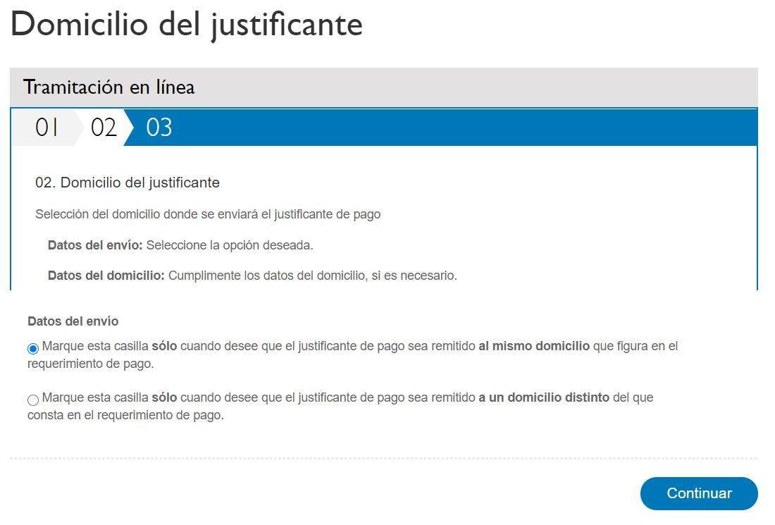 Multas Madrid Domicilio del justificante