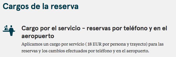 Norwegian recargo reserva telefónica