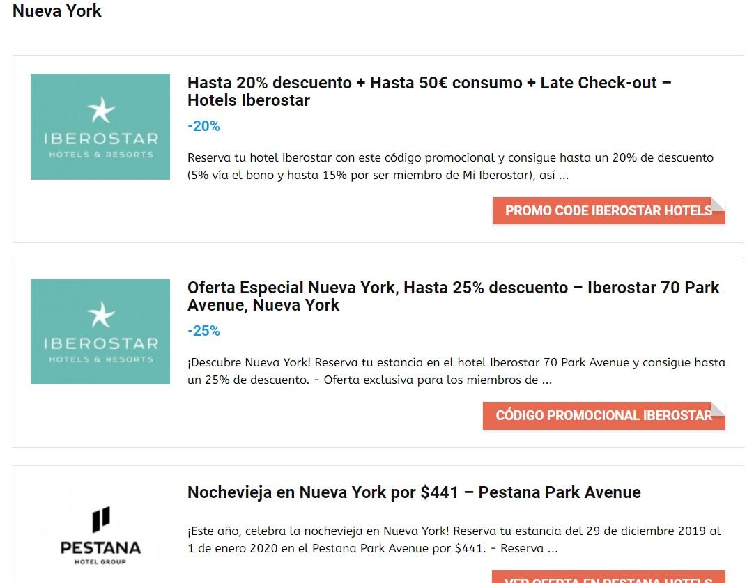 Nueva York ofertas hoteles