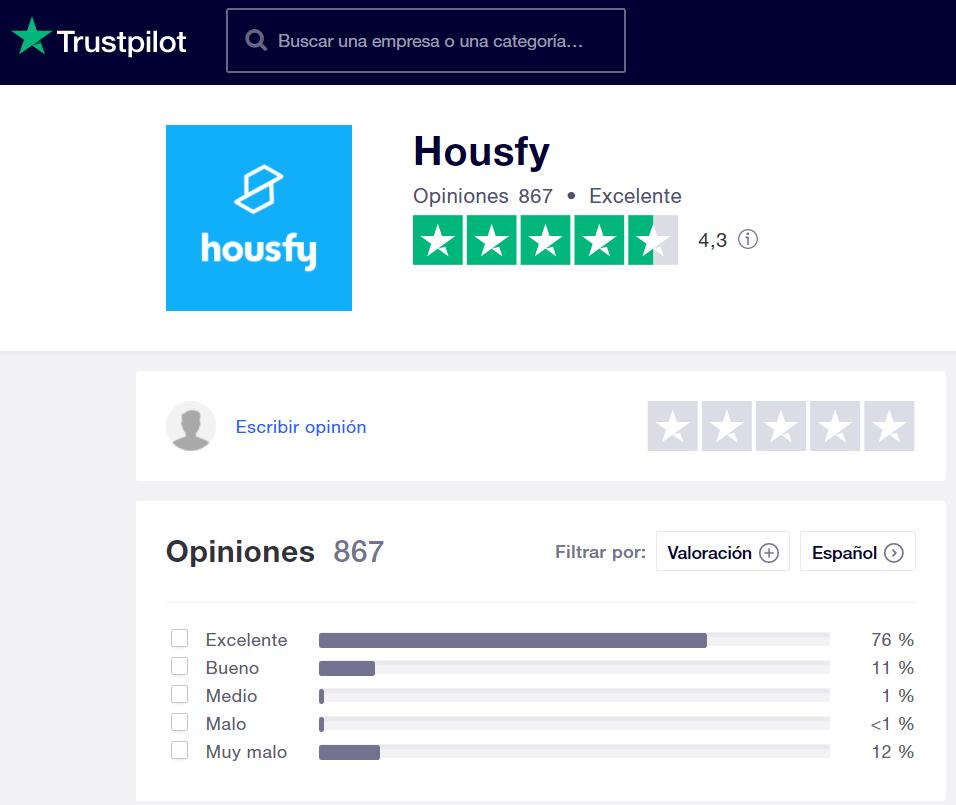 Opiniones Housfy Trustpilot