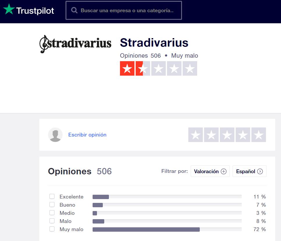 Opiniones Stradivarius Trustpilot