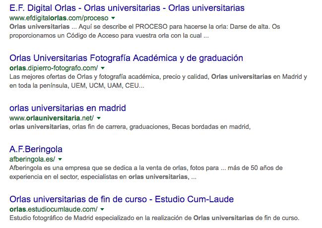 Orlas universitarias