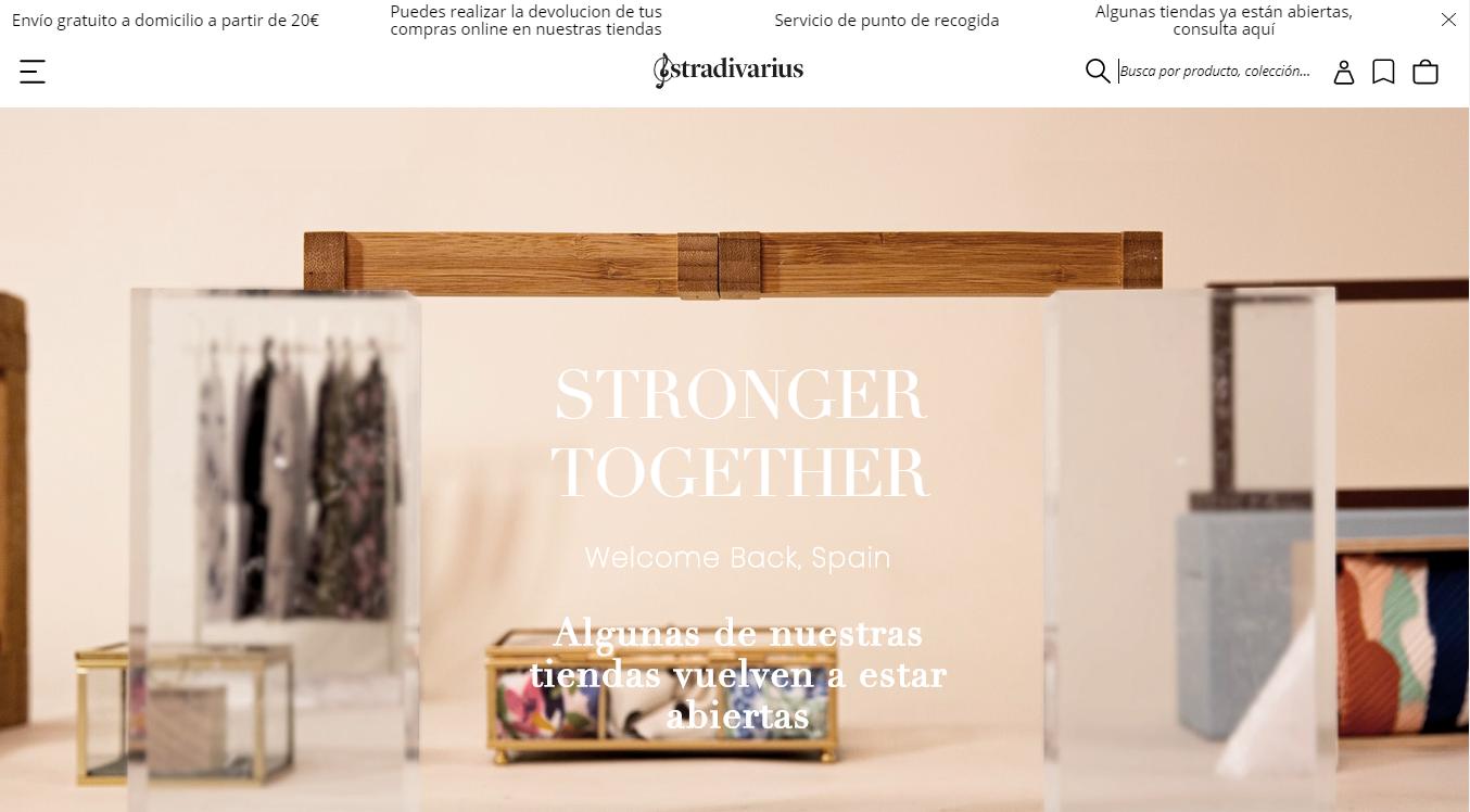 Página web de Stradivarius