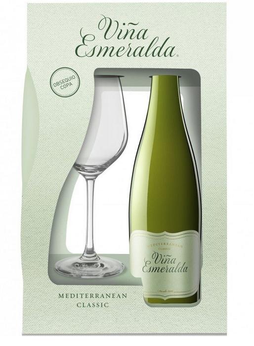 Pack Viña Esmeralda con copa Bodegas Torres