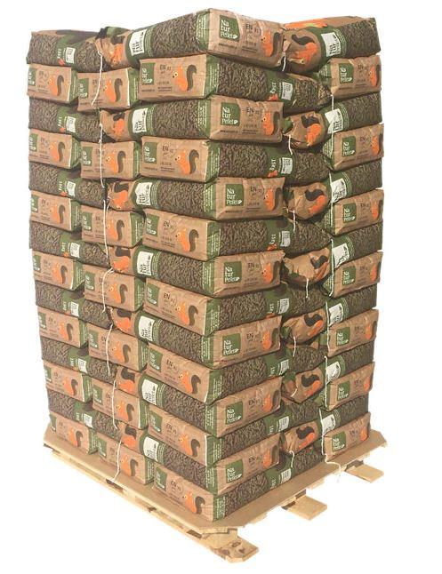 Palet de sacos de pellet de Leroy Merlin