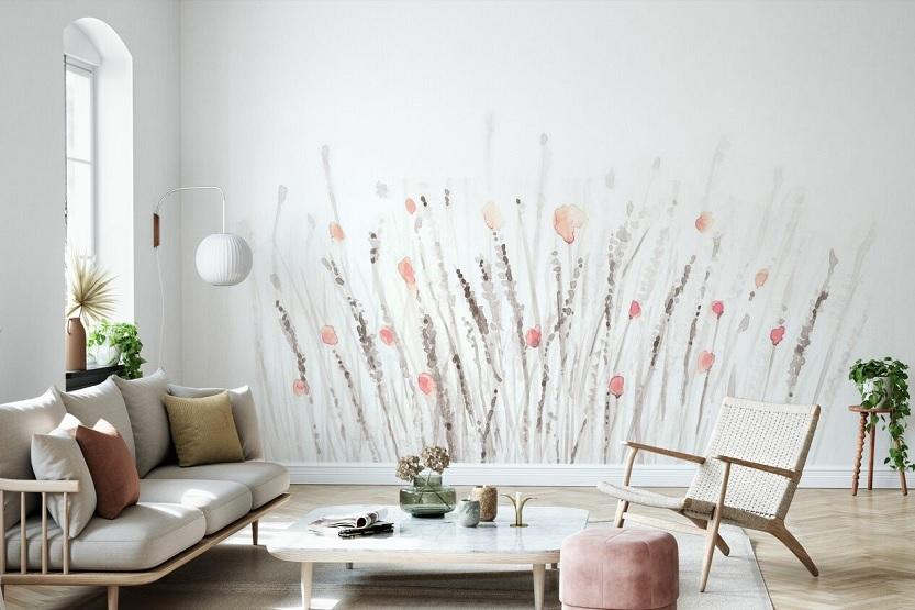 El papel pintado para decorar las paredes de una casa
