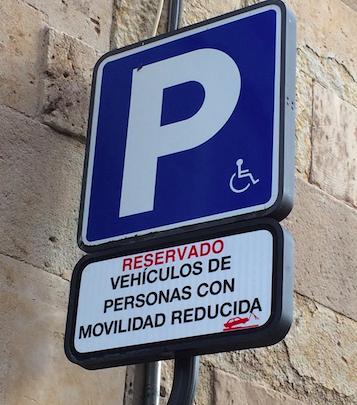 Tarjeta de estacionamiento para PMRs en La Rioja