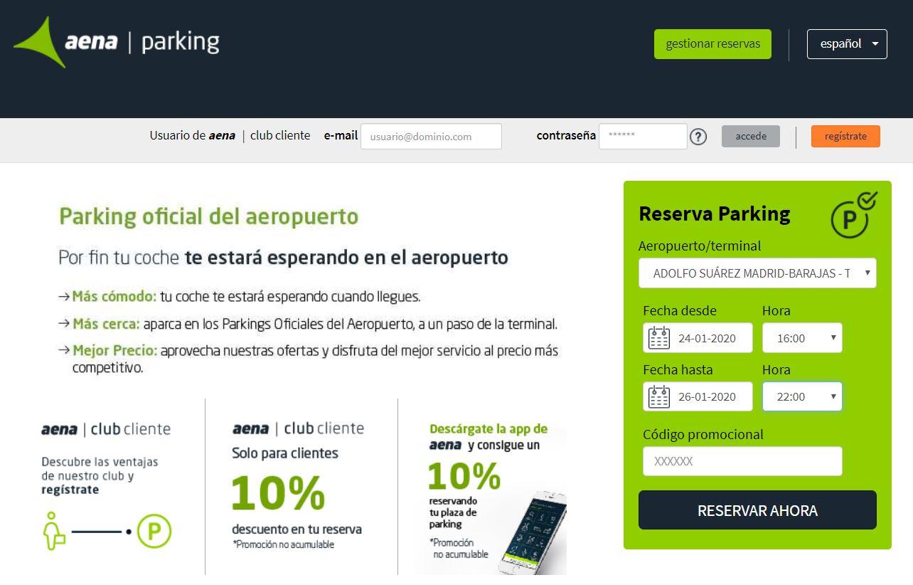 Parking aeropuerto Madrid Barajas precios