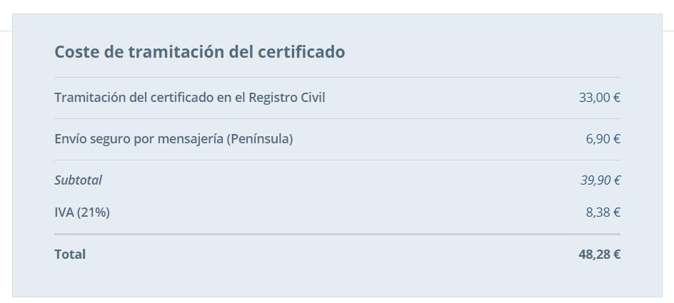 Pedir certificado de nacimiento online 2020 II