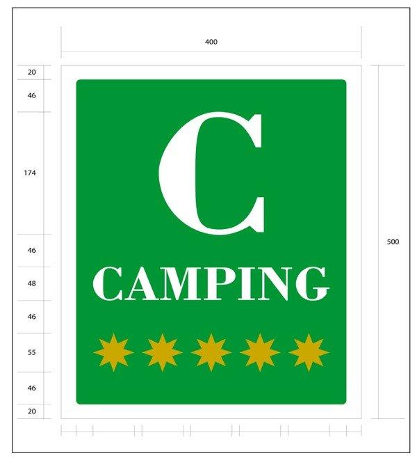 Placa camping 5 estrellas Navarra