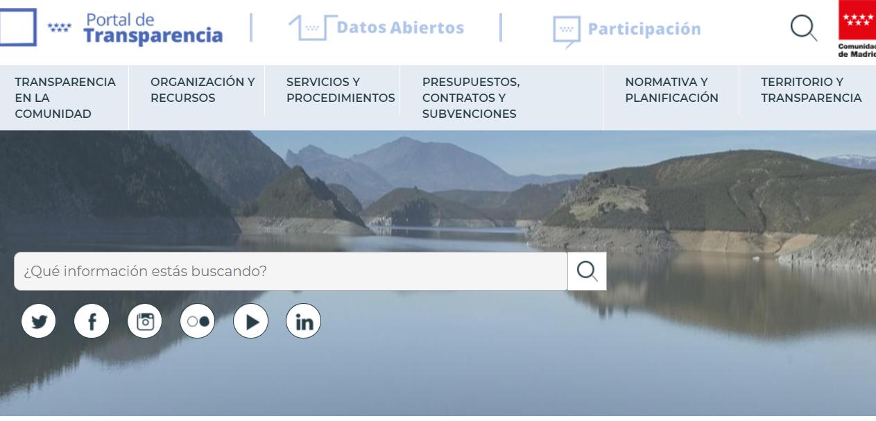 Portal de Transparencia Comunidad de Madrid