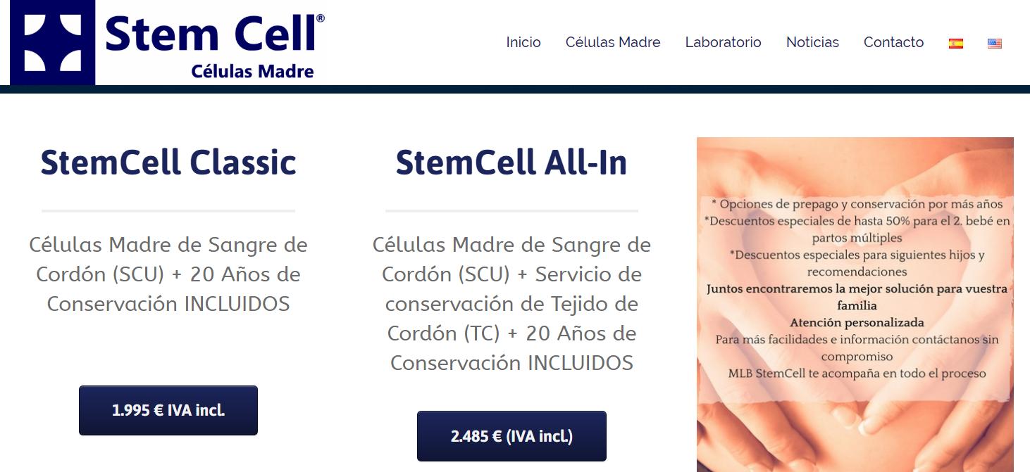 Precios StemCell 2019