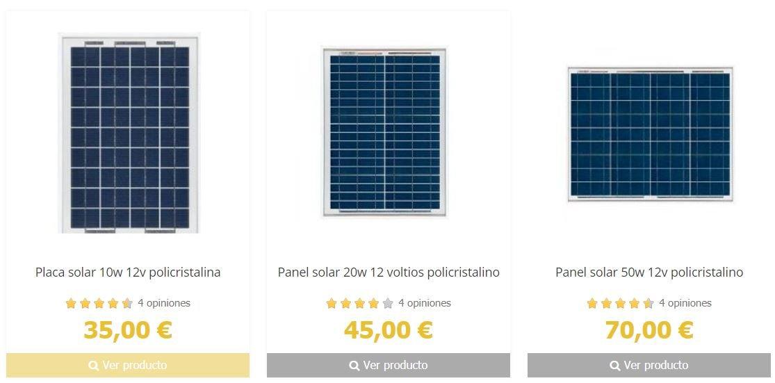 Precios de los paneles solares