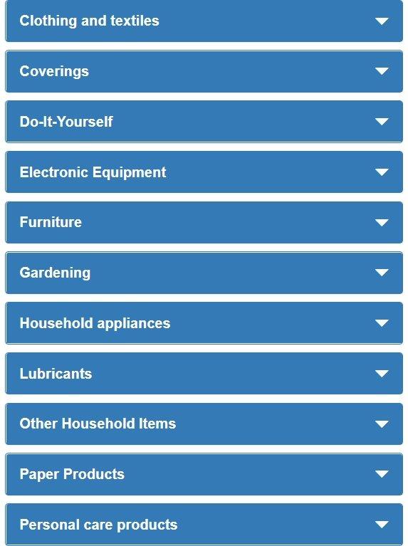 Productos que pueden solicitar la ecoetiqueta