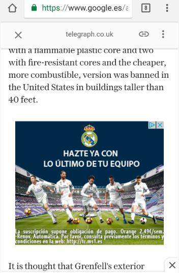 Publicidad movil Real Madrid