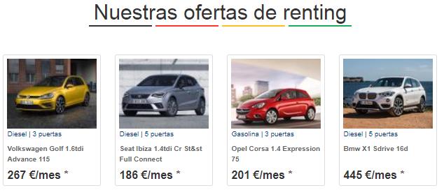 Ofertas de renting de coches (Coches.com)