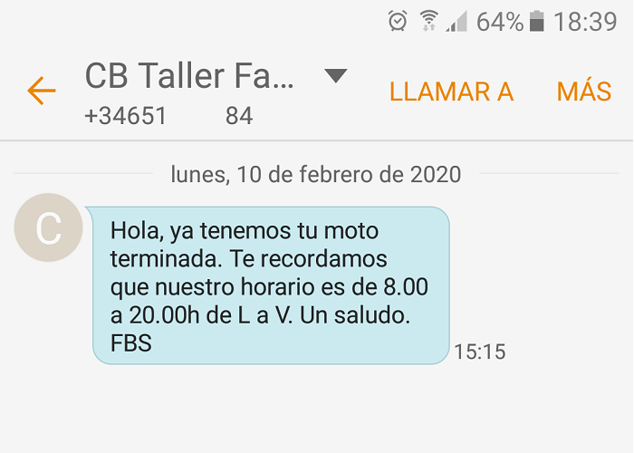 SMS de Fasterbikeservices