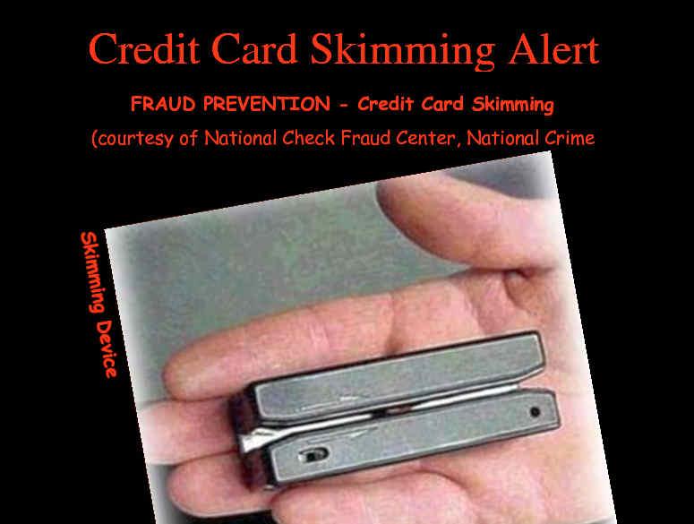 Skimmer de tarjetas de crédito