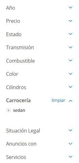 Soloautos.mx filtros de búsqueda