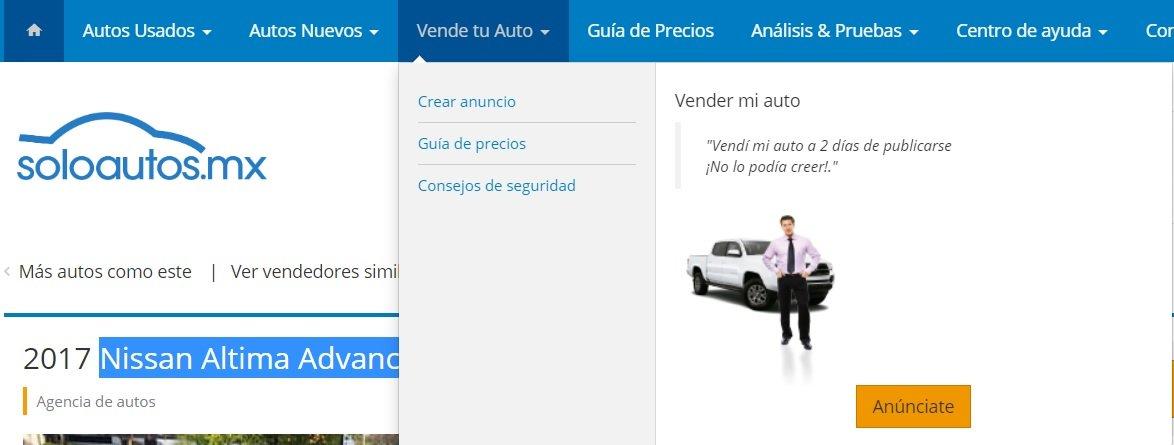 Soloautos.mx vende tu auto