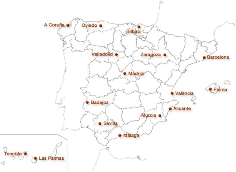 Sucursales del Banco de España
