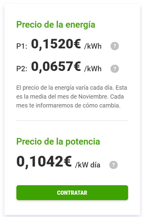 Tarifa Energygo discriminación horaria