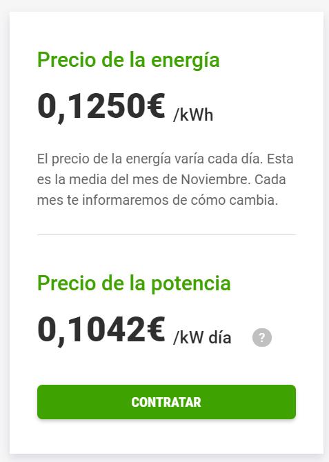 Tarifa Energygo mismo precio todo el dia