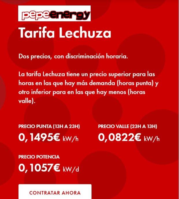 Tarifa lechuza Pepeenergy