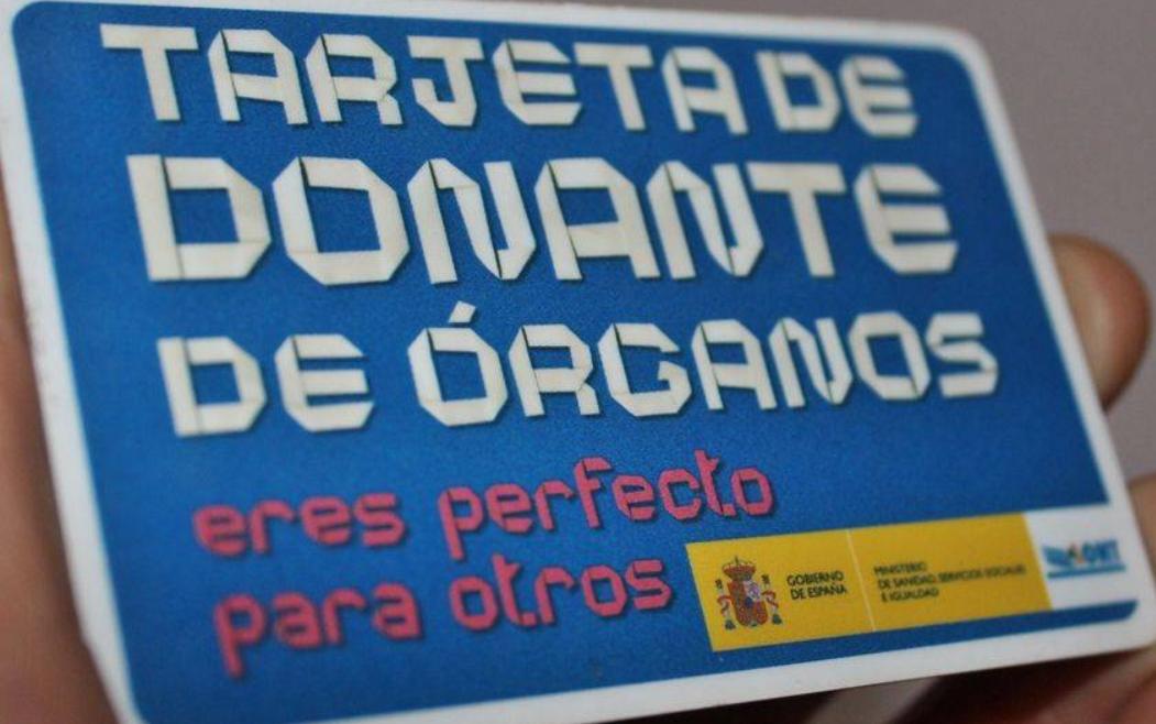 Tarjeta de donante de organos