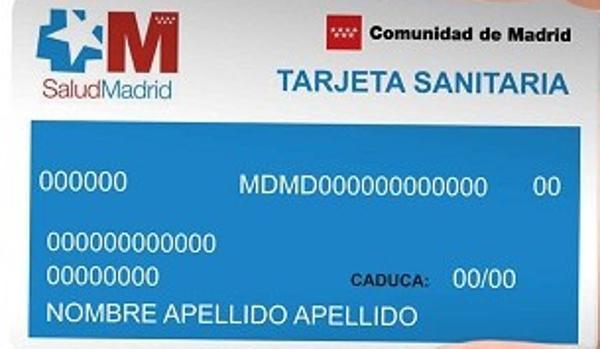Tarjeta sanitaria individual Comunidad de Madrid