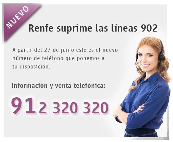 Teléfono de información y venta de RENFE 2017