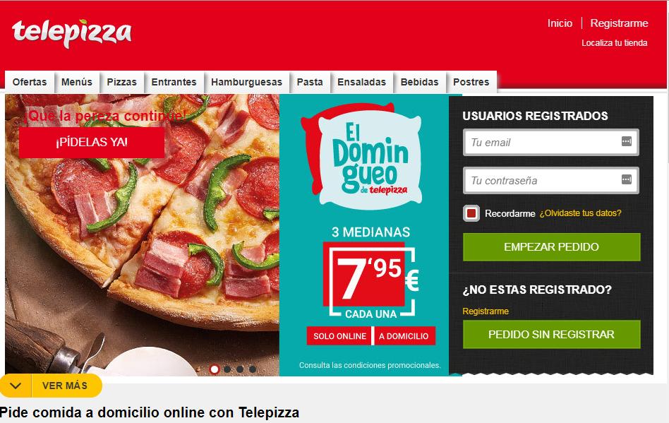 Telepizza Home web España