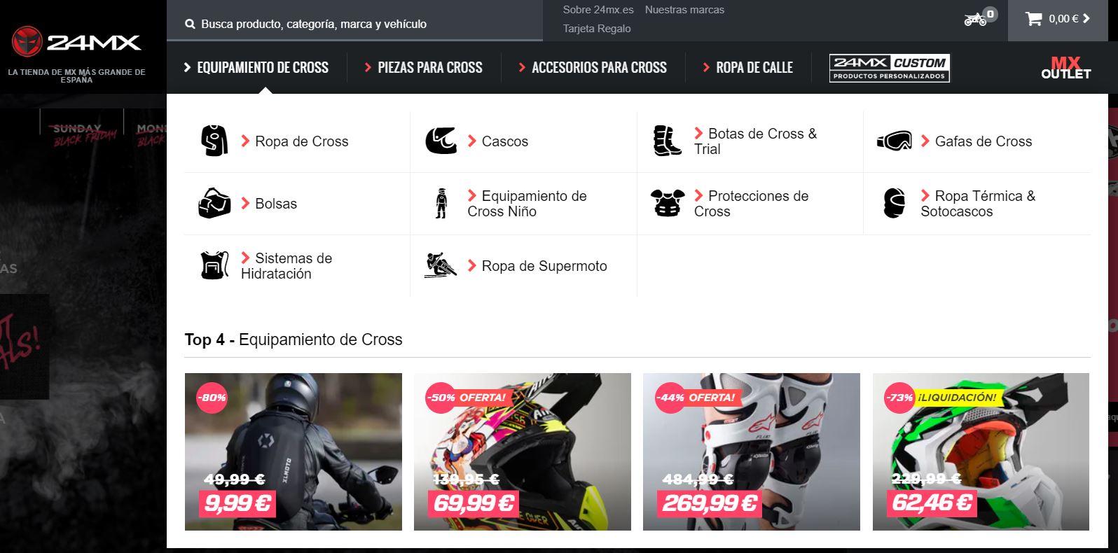 Tienda de motocross 24MX