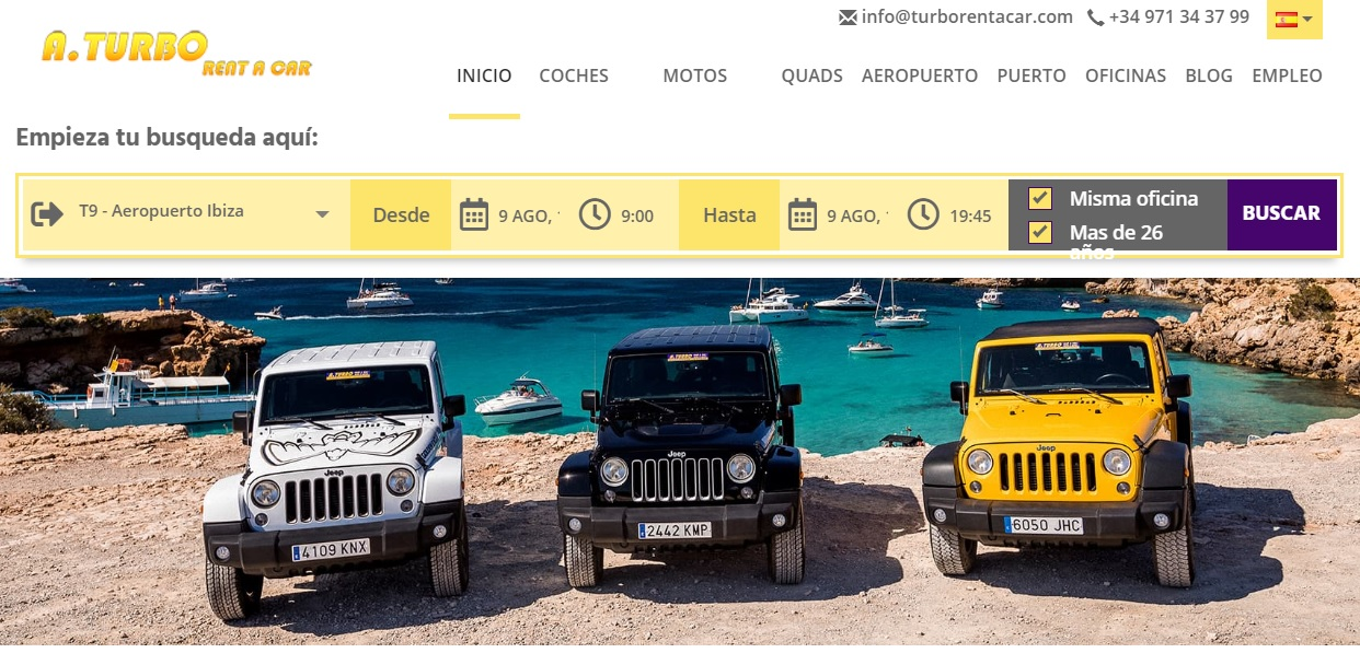 Turbo Rent A Car Homepage