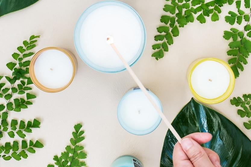 Velas de olor para crear ambientes