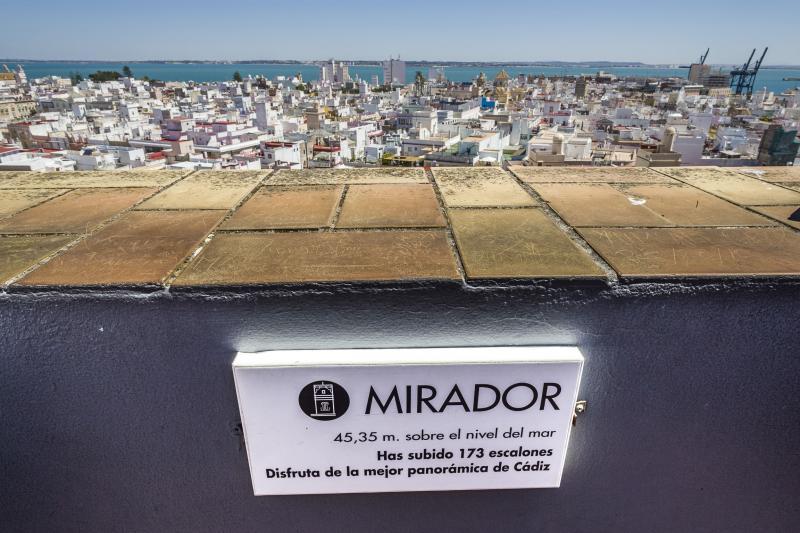 Vistas desde el mirador de la Torre Tavira