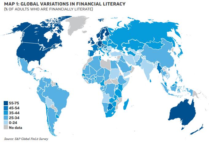 mapa mundial de cultura financiera
