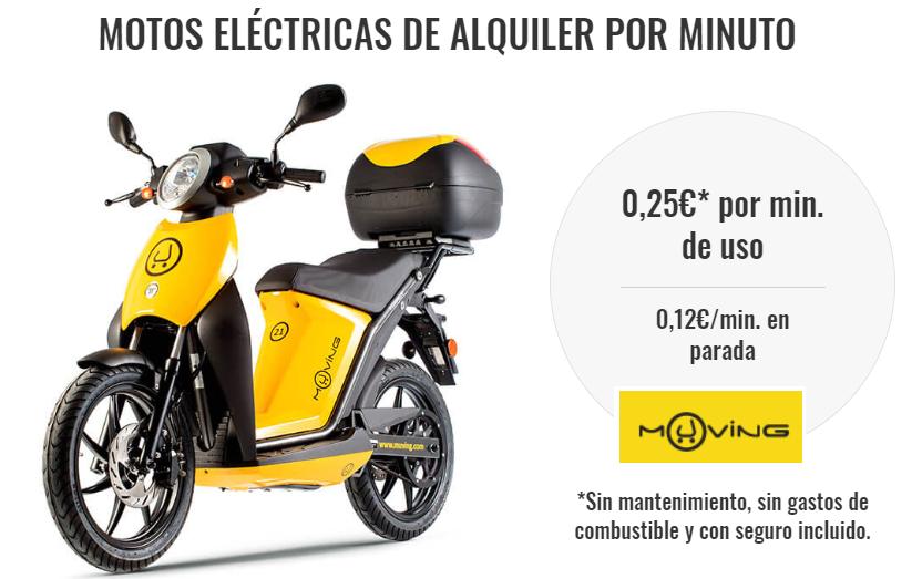 Alquiler de motos eléctricas Muving: lo que tienes que saber