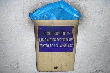 Exclusión de responsabilidad en un aparcamiento de Madrid
