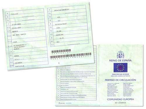 Permiso de circulación de un vehículo en España